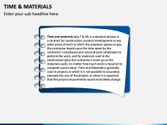 Time and Materials PPT Slide 2