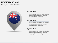 New zealand map PPT slide 18