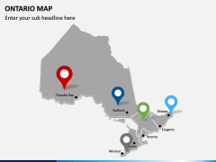 Ontario Map PPT Slide 4