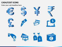 Cash Cost Icons PPT Slide 12