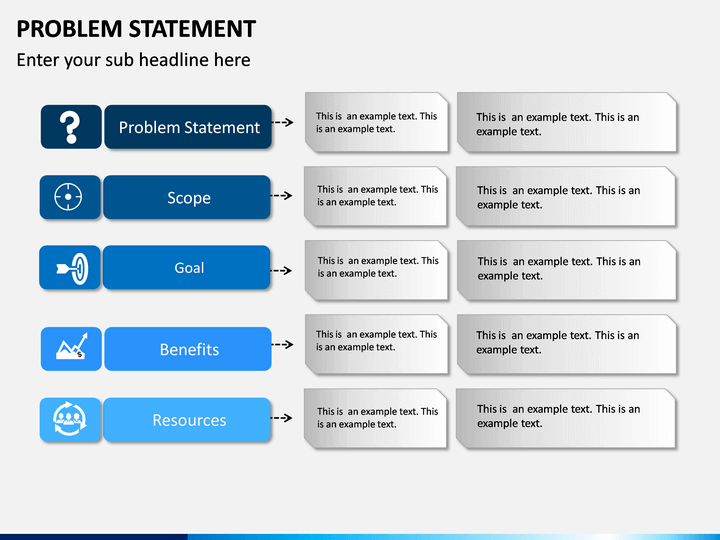 Problem Statement Powerpoint Template Sketchbubble