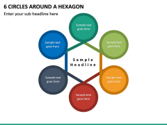 6 Circles Around a Hexagon PPT slide 2