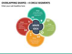 Overlapping Shapes – 4 Circle Segments PPT Slide 2