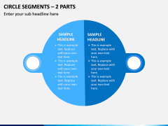 Circle Segments – 2 Parts PPT Slide 1