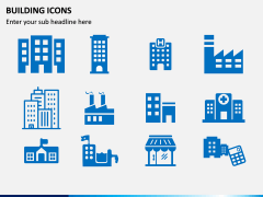 Building Icons PPT Slide 3
