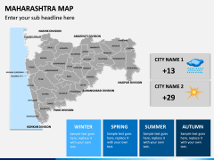 Maharashtra Map PPT Slide 10