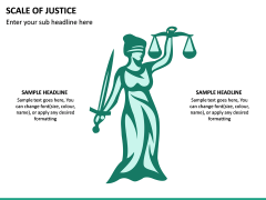 Scale of Justice PPT Slide 7