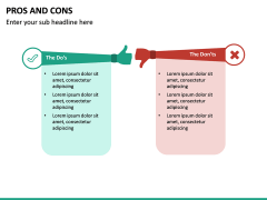 Pros and Cons PPT Slide 42