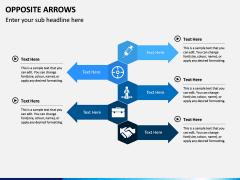Opposite Arrows PPT Slide 3