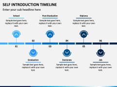 Self Introduction Timeline PPT Slide 5