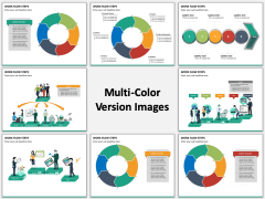 Work Flow Steps Multicolor Combined