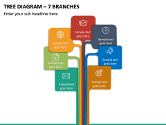 Tree Diagram – 7 Branches PPT slide 2