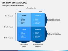 Decision Style Model PPT Slide 3