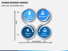 Power Interest Matrix PPT Slide 3