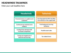 Headwinds Tailwinds PPT Slide 10