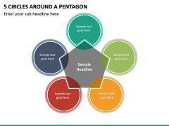 5 Circles Around A Pentagon PPT slide 2