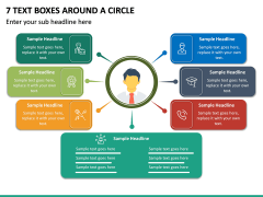 7 Text Boxes Around a Circle PPT slide 2
