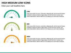 High Medium Low Icons PPT Slide 26