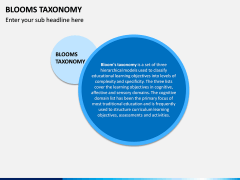 Blooms Taxonomy PPT Slide 1