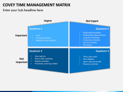 Covey Time Management Matrix PPT Slide 4