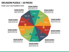 Decagon Puzzle – 10 Pieces PPT Slide 2