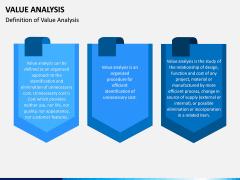 Value Analysis PPT Slide 1
