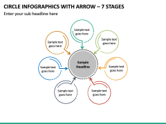 Circle Infographics with Arrow – 7 Stages PPT slide 2