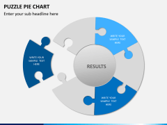 Puzzle pie chart PPT slide 2