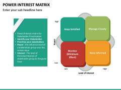 Power Interest Matrix PPT Slide 8