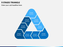 9 Stages Triangle PPT Slide 1