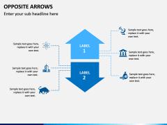 Opposite Arrows PPT Slide 11