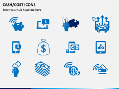 Cash Cost Icons PPT Slide 9