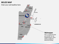 Belize Map PPT Slide 13