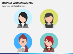 Business Woman Avatars PPT Slide 6