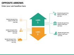 Opposite Arrows PPT Slide 23
