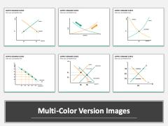 Supply demand curve multicolor combined