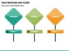 High Medium Low Icons PPT Slide 25