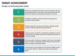 Target Achievement PPT slide 18