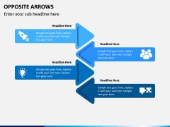 Opposite Arrows PPT Slide 6