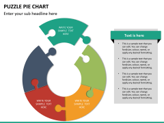 Puzzle pie chart PPT slide 24