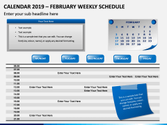 Calendar 2019 Weekly Schedule PPT Slide 2