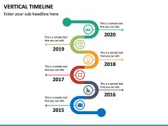 Vertical Timeline PPT Slide 19