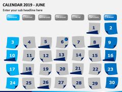 Calendar 2019 PPT Slide 6