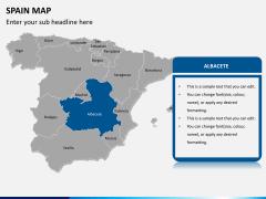 Spain map PPT slide 11