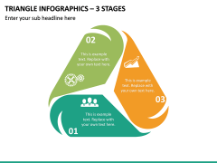 Triangle Infographics – 3 Stages PPT Slide 2