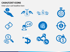 Cash Cost Icons PPT Slide 5