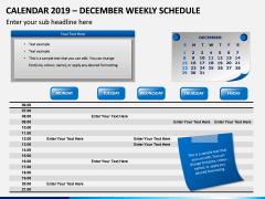 Calendar 2019 Weekly Schedule PPT Slide 12
