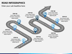 Road Infographics PPT Slide 13