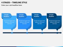 4 Stages – Timeline Style PPT slide 1
