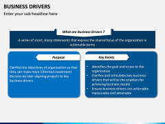 Business Drivers PPT Slide 1
